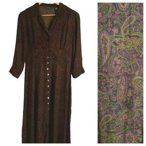 Eddie Bauer Vintage Peasley Maxi Dress, size 10